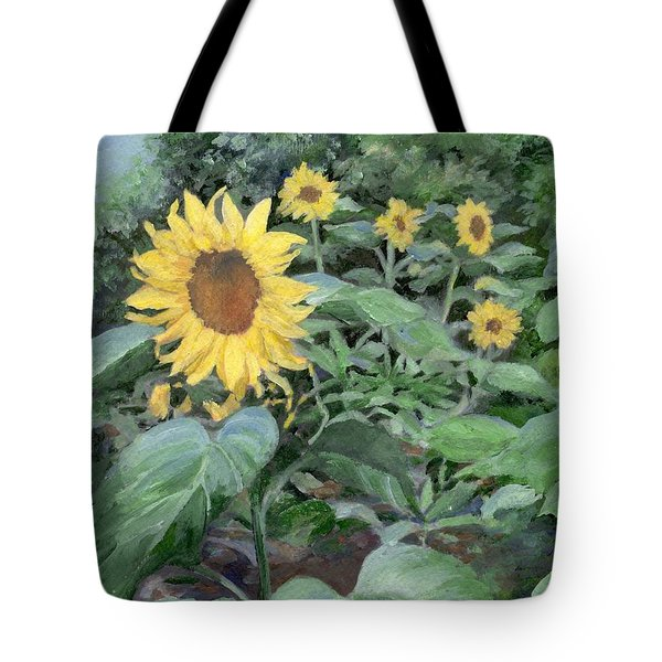 Sunflowers Garden Floral Art Colorful Original Painting Tote Bag