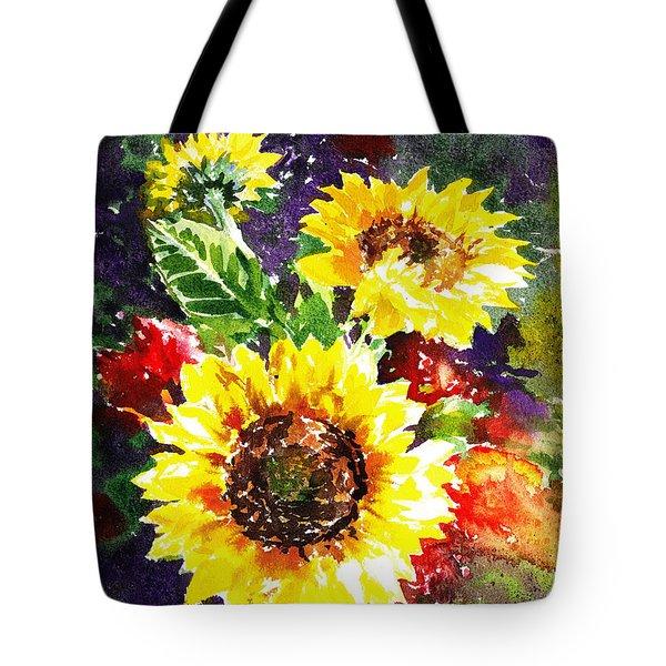 Sunflowers Impressionism Tote Bag