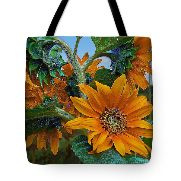 Sunflowers In A Bunch Tote Bag