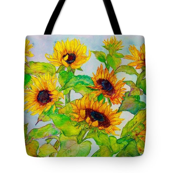 Sunflowers In A Field Tote Bag