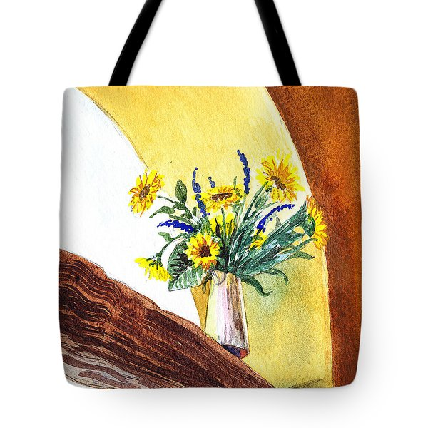 Sunflowers In A Pitcher Tote Bag