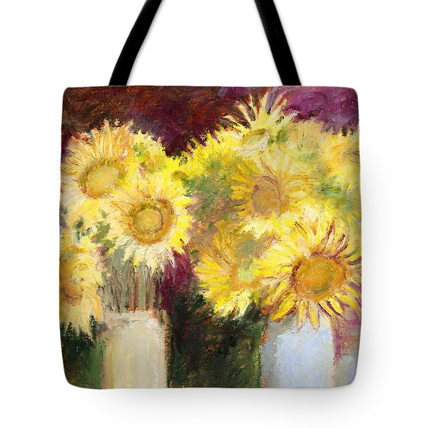 Sunflowers In Jars Tote Bag