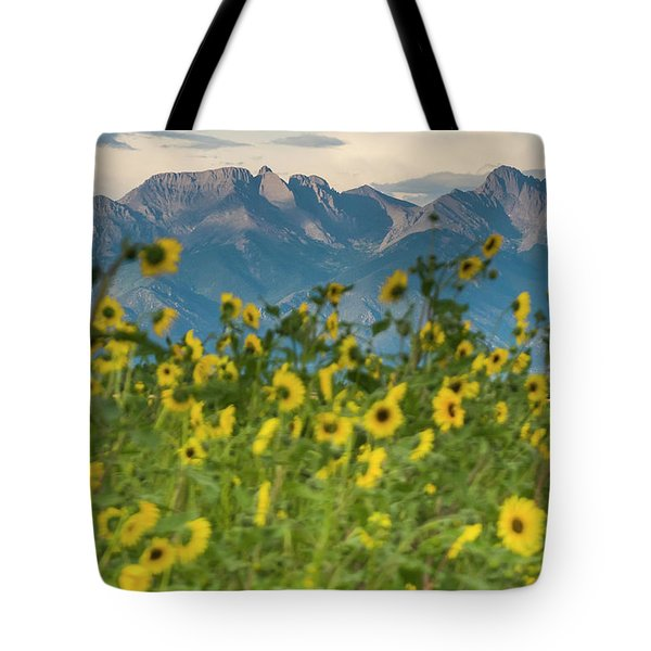 Sunflowers In The San Luis Valley Tote Bag