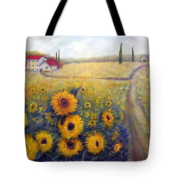 Sunflowers Tote Bag by Loretta Luglio