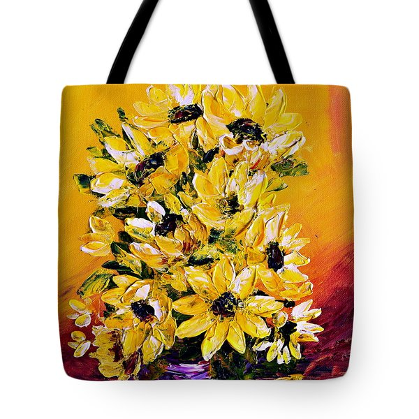 Sunflowers  No.3 Tote Bag by Teresa Wegrzyn
