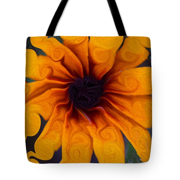 Sunflowers On Psychadelics Tote Bag