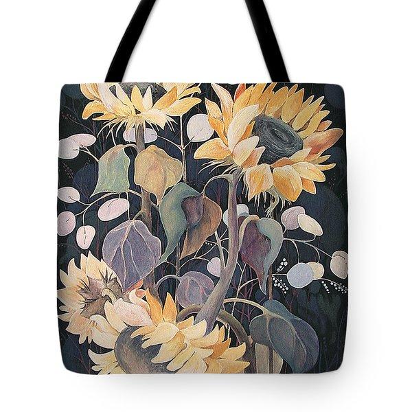 Sunflowers' Symphony Tote Bag