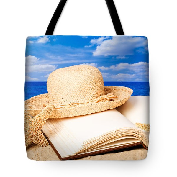 Sunhat In Sand Tote Bag by Amanda Elwell