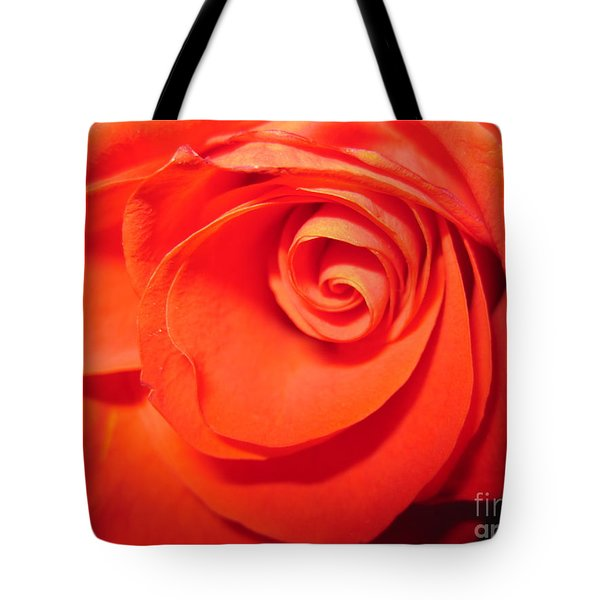 Sunkissed Orange Rose 9 Tote Bag