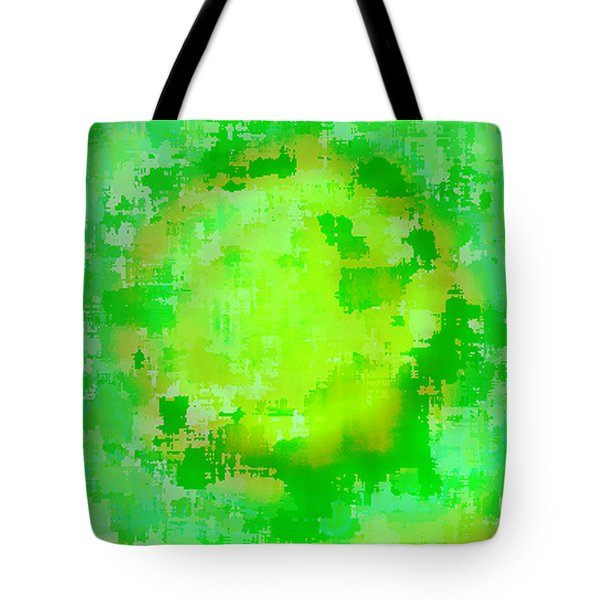 Original Abstract Art Painting Sunlight In The Trees  Tote Bag