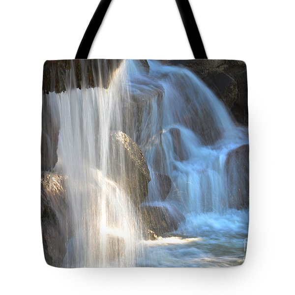 Sunlight On The Falls Tote Bag