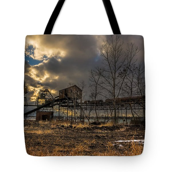 Sunlight Through A Coal Loader Tote Bag