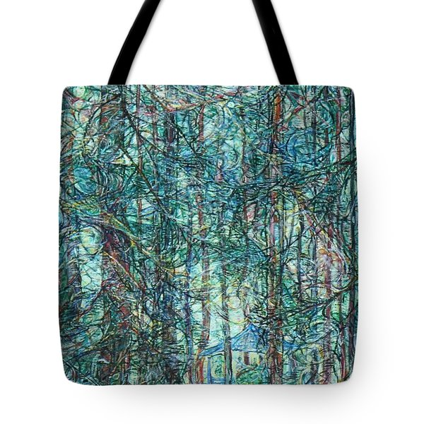 Sunlight Through Pines And Firs Tote Bag