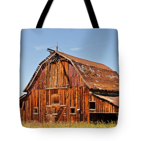 Tote Bag featuring the photograph Sunlit Barn by Sue Smith