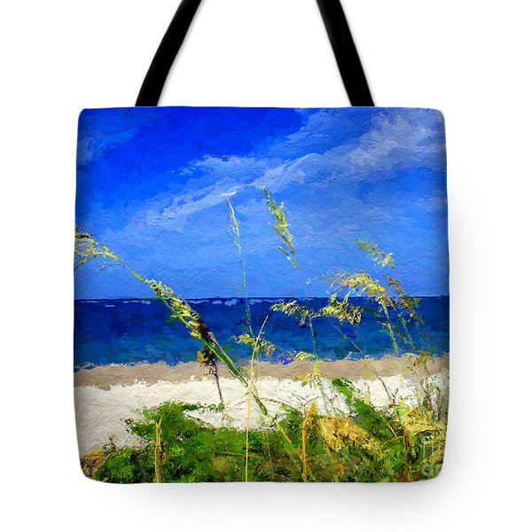 Sunlit Beachgrass Tote Bag by Anthony Fishburne