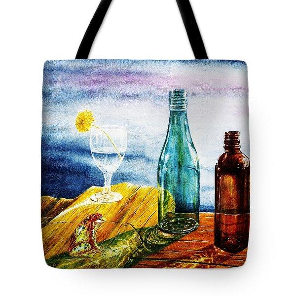 Sunlit Bottles Tote Bag