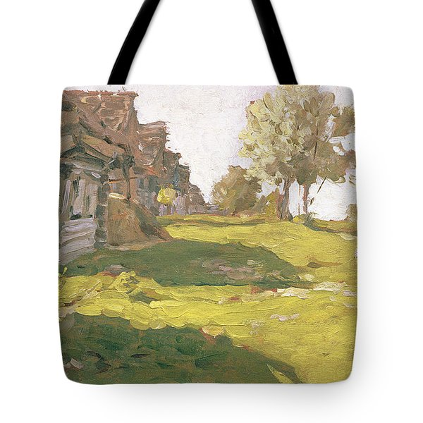 Sunlit Day  A Small Village Tote Bag by Isaak Ilyich Levitan