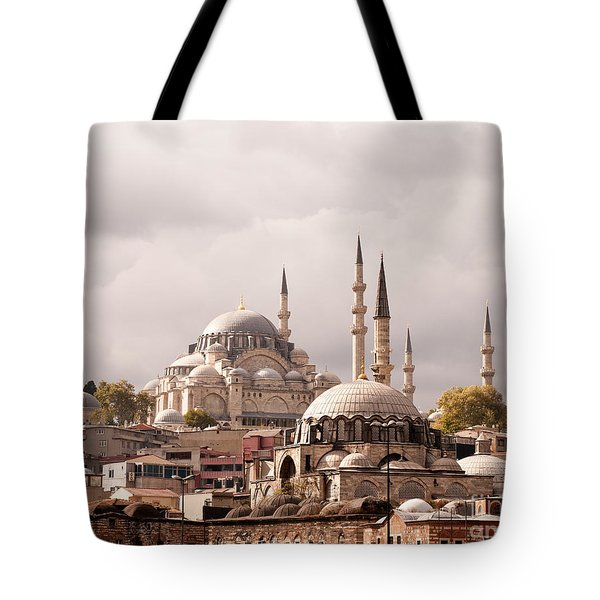 Sunlit Domes Tote Bag