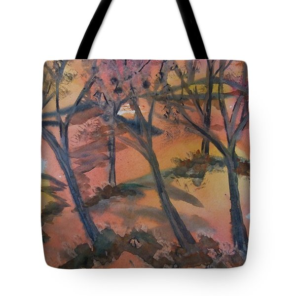 Sunlit Forest Tote Bag
