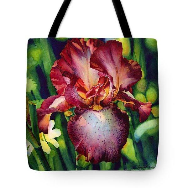 Sunlit Iris Tote Bag