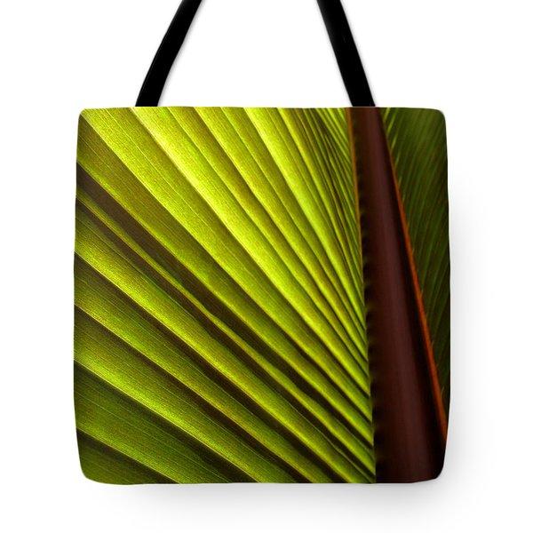 Sunlit Leaf Tote Bag