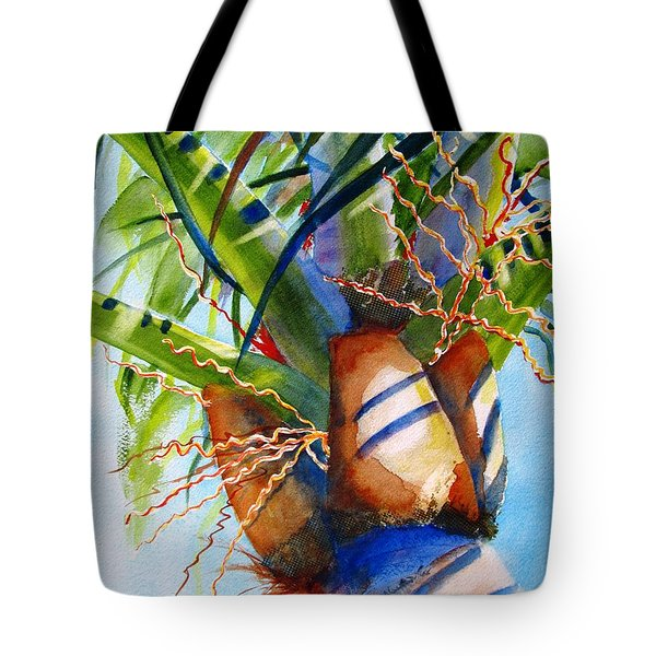 Sunlit Palm Tote Bag