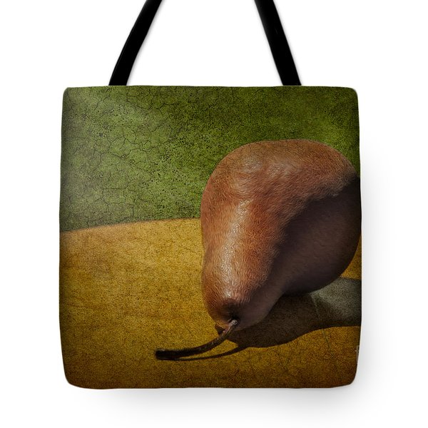 Sunlit Pear Tote Bag by Susan Candelario