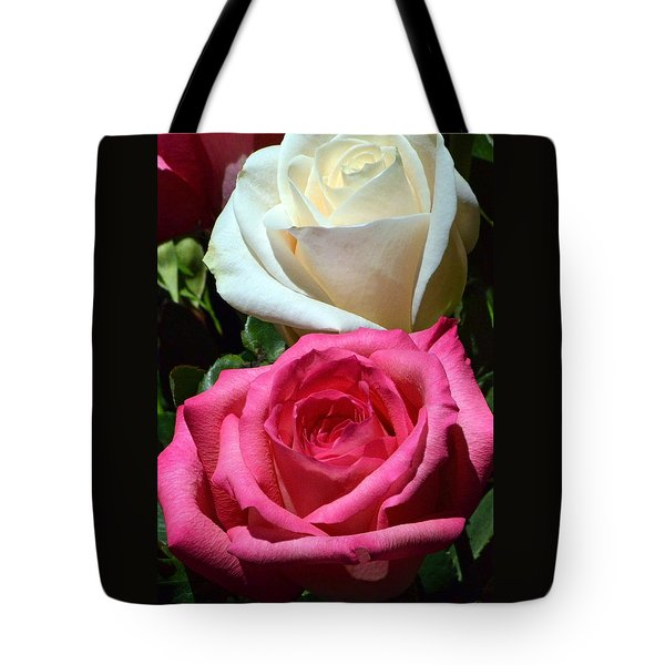 Sunlit Roses Tote Bag by Marie Hicks
