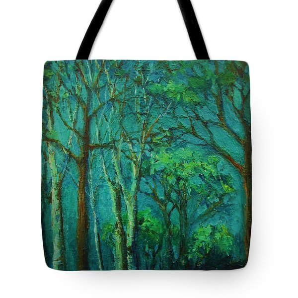 Sunlit Woodland Path Tote Bag