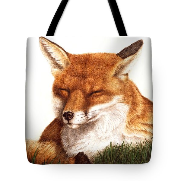 Sunnin' Red Fox Tote Bag by Pat Erickson