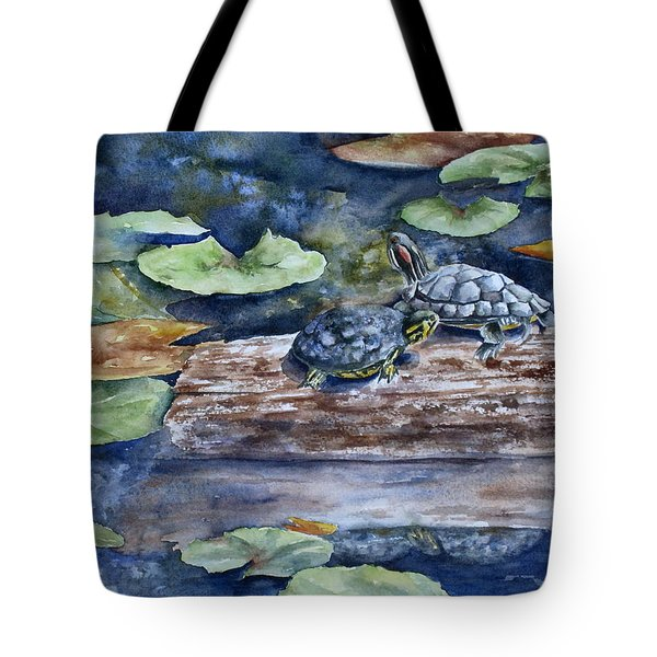 Sunning Sliders Tote Bag by Mary McCullah