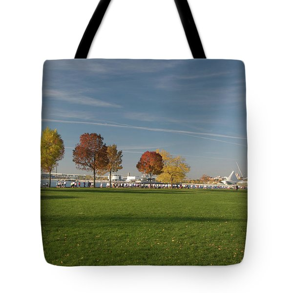 Tote Bag featuring the photograph Sunny Autumn Day by Jonah  Anderson