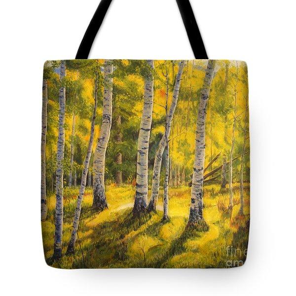 Sunny Birch Tote Bag