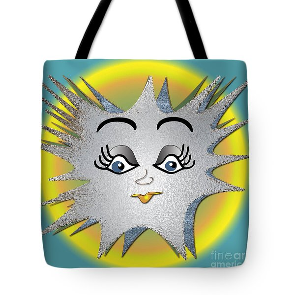 Tote Bag featuring the digital art Sunny Boy by Iris Gelbart