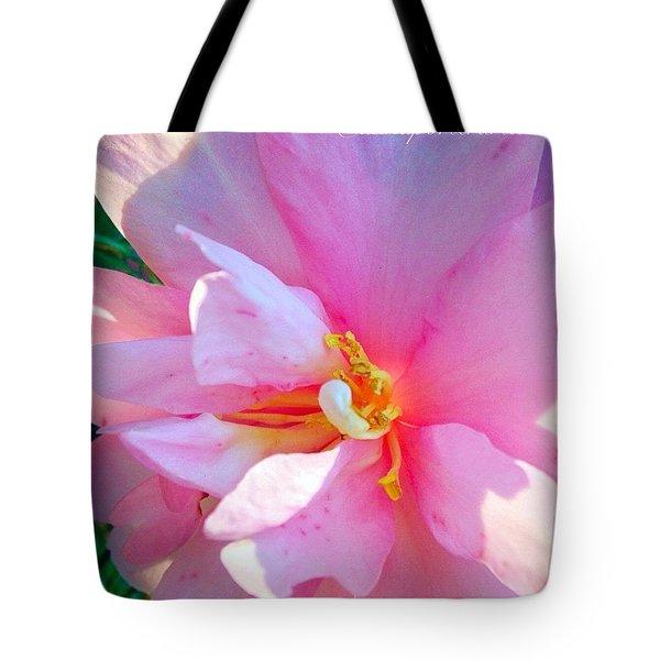 Sunny Camellia Tote Bag