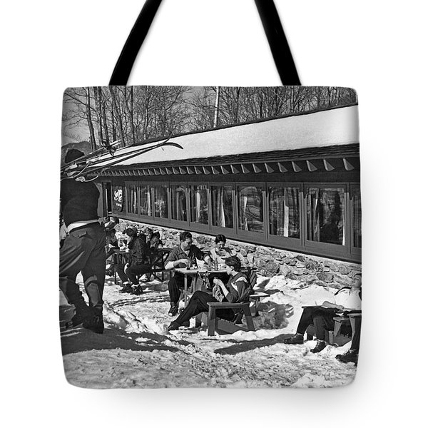 Sunny Day After Skiing Tote Bag
