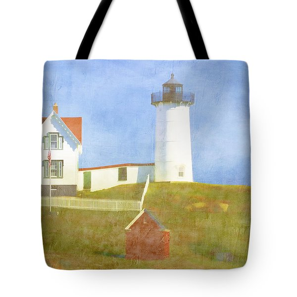 Sunny Day At Nubble Lighthouse Tote Bag