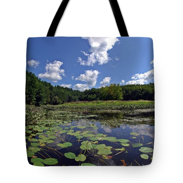 Sunny Day On The Merrimack Tote Bag