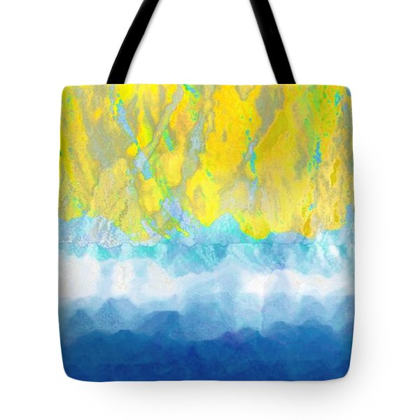 Sunny Day Waters Tote Bag by Darla Wood