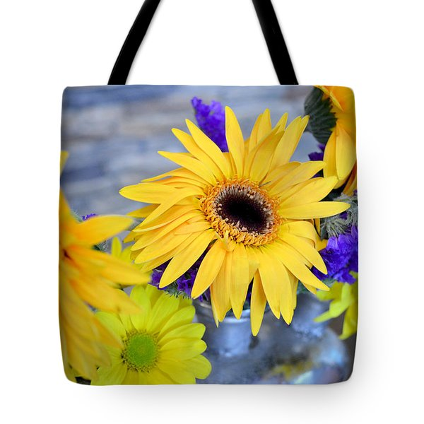 Tote Bag featuring the photograph Sunny Days by Ally  White