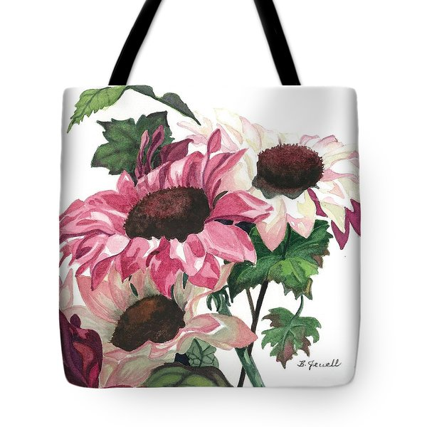 Tote Bag featuring the painting Sunny Delight by Barbara Jewell