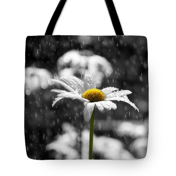 Sunny Disposition Despite Showers Tote Bag