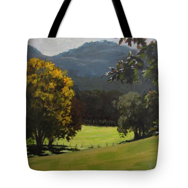 Sunny Fall Day Tote Bag by Karen Ilari