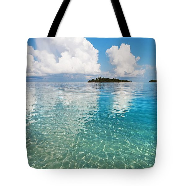 Sunny Invitation For  You. Maldives Tote Bag by Jenny Rainbow