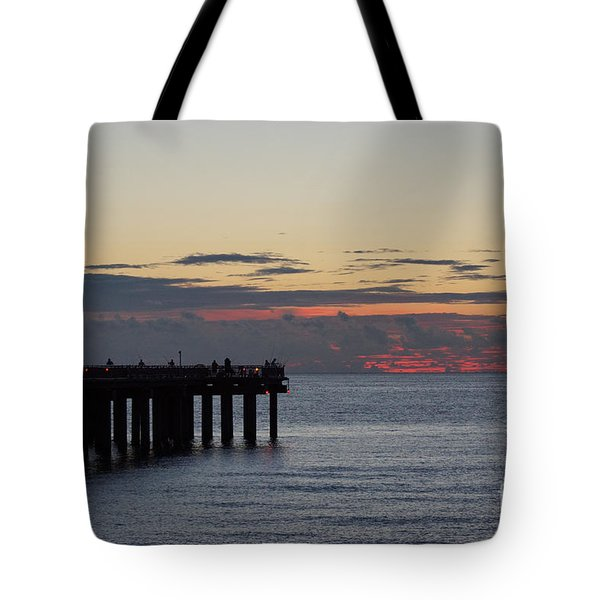 Tote Bag featuring the photograph Sunny Isles Fishing Pier Sunrise by Rafael Salazar