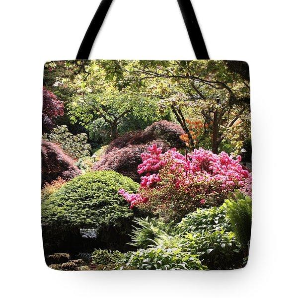 Sunny Japanese Garden Tote Bag by Carol Groenen