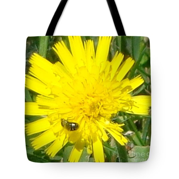 Sunny Lunch Tote Bag by Christina Verdgeline