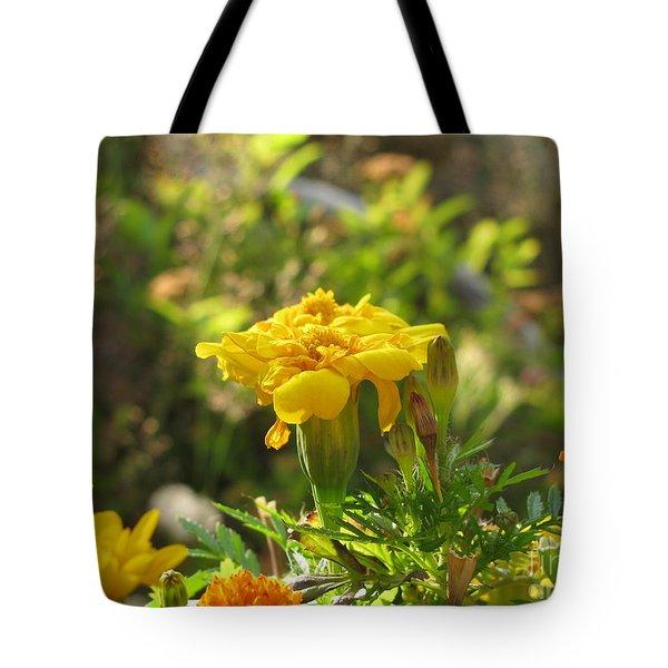 Sunny Marigold Tote Bag