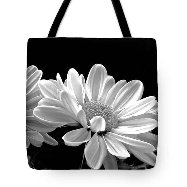 Sunny Mums In Black And White Tote Bag by Rita Mueller