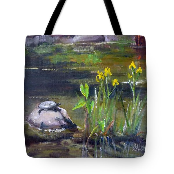 Sunny Side Tote Bag by Sharon Weaver